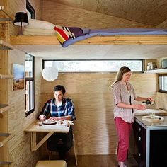 tiny cabin interior