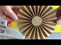 (2) How to make a PAPER FAN/DIY paper fan/How to make a paper rosette/paper decor for party - YouTube