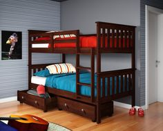 Bunkbed with Storage Drawers
