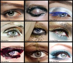 game of thrones eyeshadow by houses