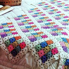 INSTANT DOWNLOAD PDF Vintage Crochet Pattern for Pastel Medallions Granny Squares  Afghan Throw Blanket  Retro by PastPerfectPatterns on Etsy https://www.etsy.com/listing/198947410/instant-download-pdf-vintage-crochet