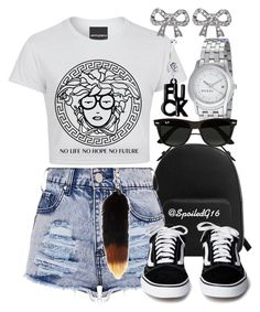 """""""No Life."""" by spoiledg16 ❤ liked on Polyvore featuring MANGO, Gucci, Ray-Ban and Wet Seal"""