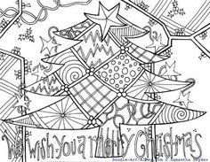 Let's Doodle Coloring Pages to Print | 29. Christmas Coloring Pages by Doodle Art Alley