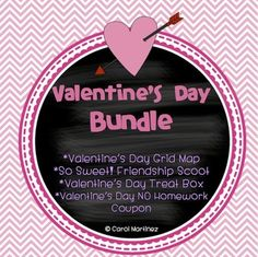 Celebrate February's sweetest holiday, Valentine's Day, with this bundle of four of my best Valentine's Day products.  Each product is sold separately in my store, in case there's only one that you want.  However, when you purchase all of them in a bundle, the discount is amazing!