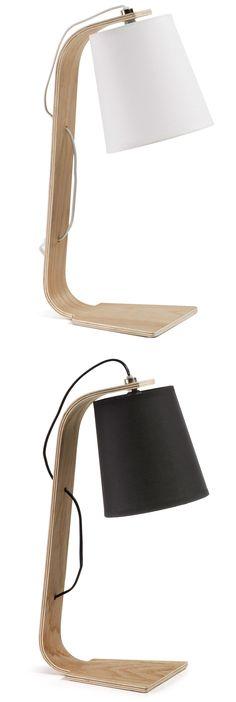 Lámpara de mesa Amai · Desk Lamp Amai  Disponible en color blanco o negro 42x20x16