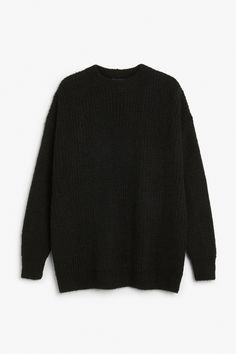 Monki Image 1 of Knitted sweater in Black