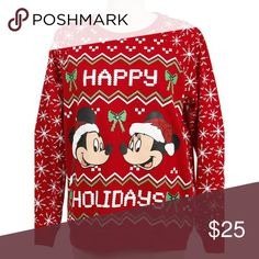 Mickey and Minnie Christmas Sweater Arriving next week! Comment below if you would like to be tagged when it's here! Disney Sweaters Crew & Scoop Necks