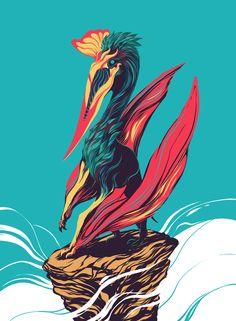 Quetzalcoatlus Art Print by Matt Kehler Art - X-Small Evolve Wallpapers, Dragon Age Funny, Dino Park, Cool Dinosaurs, Illustration Story, Dinosaur Art, Prehistoric Creatures, Dope Art, Prehistory