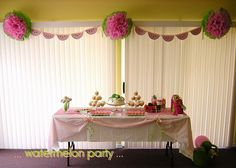 Cute watermelon themed party