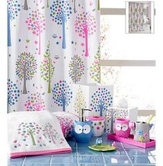 this would work perfect for thier bathroom! Product: Kassatex Merry Meadow Bath Collection