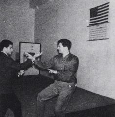 Young Bruce Lee with Ed Parker