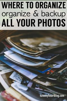 """In this digital photography age, organizing and backing up pictures can be really overwhelming. It's also kind of a funny problem because what the heck are you going to do with all those backed up pictures anyway? Sit on your computer and just click """"next"""" a zillion times and look through them? Go back and …"""