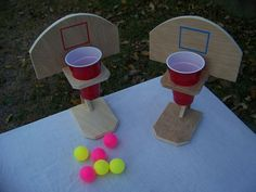 Beer pong, basketball, handmade, table top game, drinko, wooden game, ping pong, tailgating game, fun for all ages family and friends