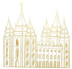 Salt Lake Temple Gold Foil Print Later Day Saints, Salt Lake Temple, Gold Foil Print, Lds Quotes, Daughter Of God, String Art, Jesus Christ, Louvre, Around The Worlds