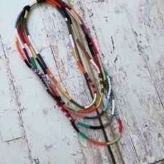 Bunte überlagerte Halskette einzigartige Seil Schmuck Faser