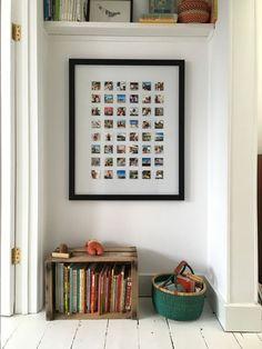 Polaroid Picture Display - The Urban Interior Polaroid Pictures Display, Polaroid Display, Polaroid Collage, Polaroid Wall, Polaroids On Wall, Wall Collage, Display Photos, Collage Photo, Polaroid Photos