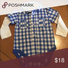 •Plaid Onesie• This is a NWOT onesie that is absolutely adorable. Pair with denim to complete this look. M & S One Pieces Bodysuits