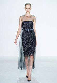 Metallic belt  under Sheer Embellished Tulle ,  Hidden Beauty under Sheer Dress Trend for Spring Summer 2013.  Christian Dior Spring Summer 2013.    #fashion #trends