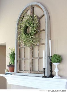 decorating with old window frames | 46 Creative DIY Ideas Using Old Windows in Your Home