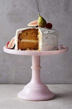 Milk Glass Cake Stand - anthropologie.com