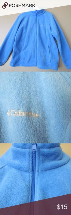 COLUMBIA SPORTSWEAR COMPANY SWEATER CARDIGAN EXCELLENT CONDITION !! COLUMBIA SWEATER CARDIGAN BLUE SIZE 1X ZIPPER 2 POCKETS 100 % POLYESTER Columbia Sweaters Cardigans