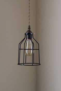 Industrial Plug In Pendant Light Black Cage Wire or Desk Lamp Switch Edison Lighting Gold Oil Rubbed Bronze Chrome Copper Antique Brass
