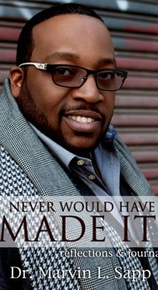 """Marvin Sapp's song """"Never would have made it""""! LOVE! He is truly a blessed singer"""