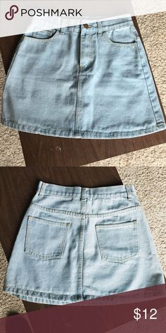 Vintage Jeans Skirt Worn once. In great great condition. Too skinny for me. It's size S. but I would say it's size 2 or 4. Skirts Mini