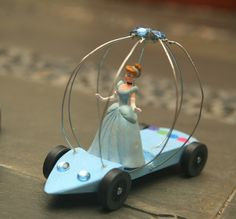 Pinewood derby car for Mom & sister! Cinderella pinewood derby car.