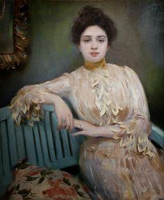Ramon Casas i Carbó - Retrato de Mercedes Llorach, 1901