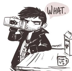what are you looking at, can't a man drink milk? _______I will never stop laughing about Hook and his goats milk. Never. I'm a big fan of wimpy Killian in generalNow available for purchase on several products!Buy it here!