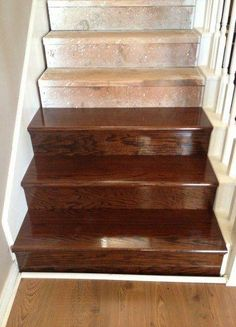 Ideas For Diy Stairs Makeover Plywood makeover staircase remodel Ideas For Diy Stairs Makeover Plywood Finishing Stairs, Redo Stairs, Kitchen Faucet Repair, Basement Steps, Staircase Remodel, Stair Steps, Diy Stair, Stair Treads, Staircase Makeover