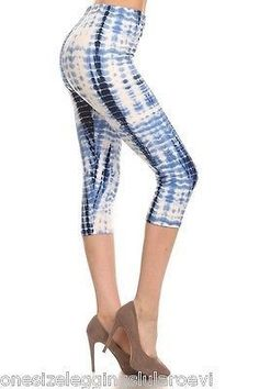 29.69$  Watch now - http://viqsy.justgood.pw/vig/item.php?t=cx6wsg5807 - NEW Buttery Soft & Stretchy CAPRI Leggings TIE DYE One Size S-L Elastic Waist OS