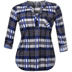 Plaid Shirt ($14) ❤ liked on Polyvore featuring tops, tartan shirt, tartan top, tartan plaid shirt, plaid top and plaid shirts