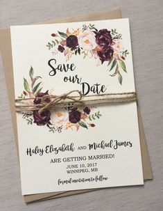 Wedding Invite Vintage