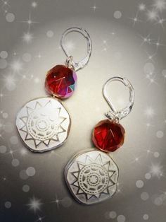 #OMGQ! Little Gems Delhi Red earrings