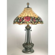 Dale Tiffany Lamps Autumn Rose  Table Lamp in Mica Bronze - TT60581
