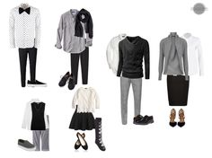 Vêtements de Famille - Mélange de Couleur neutre, Blanc et Noir.