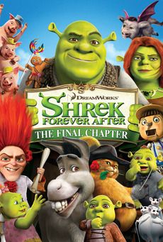 Shrek Forever After (3 stars) Either I'm getting too old for this, or these characters are not aging well. This final chapter is not bad, but it has lost much of the magic and charm that was in the excellent first two installments and even the whimsy of the third. The voice actors don't seem to be as engaging and the story is a bit tired. Even the villain is fairly lame. The animation is still very good, and the characters conform to expectations. Merely good when I was hoping for more.