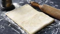 Cheat's rough puff pastry recipe - BBC Food This is a great shortcut method for making puff pastry. You can use it for sausage rolls, apple turnovers, tarts and savoury pies. British Baking, British Bake Off, Rough Puff Pastry, Home Made Puff Pastry, Shortcrust Pastry, Flaky Pastry, Puff Pastry Recipes, Quick Easy Meals, Food Processor Recipes
