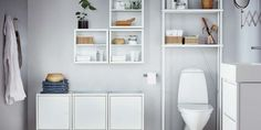 Combine DYNAN bathroom elements, like shelves and cabinets, and create your own personalised bathroom storage solution. Made of steel to ensure stability, its white coating complements the fixtures and matches different interiors. Pirate Bathroom Decor, Bathroom Rules, Ikea Bathroom, Wood Bathroom, Bathroom Furniture, Bathroom Storage, Small Bathroom, Ikea Expedit, Wall Cupboards