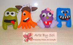Chaveirinhos Toy Art - Arte By Sol