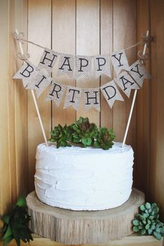 Bring A Rustic Touch To Your Birthday Celebration This Adorable Handcrafted Cake Topper Is The