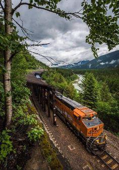 Rail Train, By Train, Train Tracks, Bnsf Railway, Railroad Companies, Rail Transport, Burlington Northern, Pennsylvania Railroad, Train Pictures