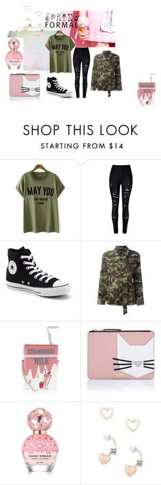 """""""Kinda Spring"""" by sabrinabuizza on Polyvore featuring mode, Converse, Yves Saint Laurent, Accessorize, Karl Lagerfeld, Marc Jacobs et Lipsy"""