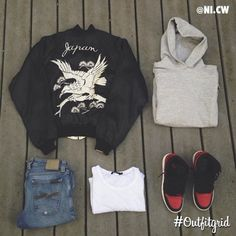 Today's top #outfitgrid is by @ni.cw. ▫️#Grandfathers #Navy #Bomber…