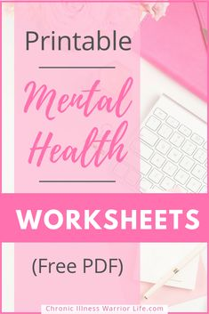 FREE Printable Mental Health Worksheets Chronic Illness Warrior Life : I am trying to learn new coping skill activities for adults with mental illness. These free printable mental health worksheets are amazing. I love free printables and these are great Coping Skills Activities, Mental Health Activities, Free Mental Health, Mental Health Journal, Self Care Activities, Mental Health Awareness, Therapy Activities, Therapy Worksheets, Mental Health