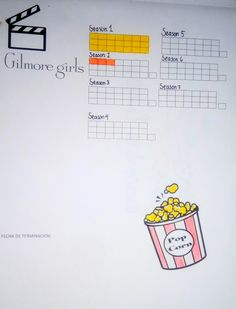 Bullet journal tracker (series or movies)