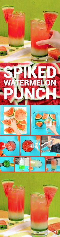 With fresh watermelon juice, lemonade, vodka, and kiwi syrup layered into a tall…