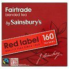 SAINSBURY'S RED LABEL TEA BAGS 80 160 480 FAIRTRADE SHIPS FROM UK